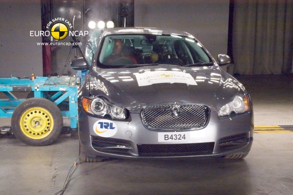 Testy zderzeniowe: Jaguar XF - listopad 2011 - video w mojeauto.tv