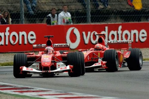 Barrichello i Schumacher