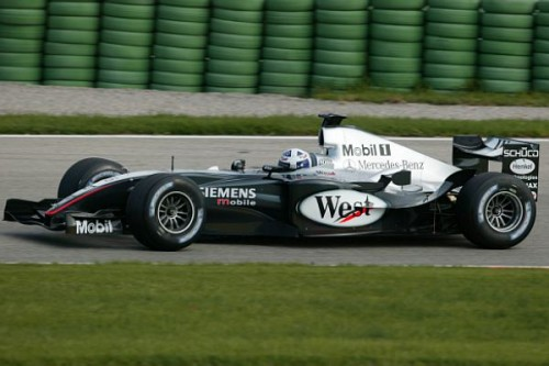 Coulthard testuje nowy bolid