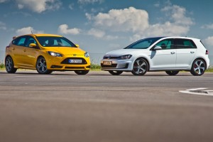Testy mojeauto.pl: Ford Focus ST vs Volkswagen Golf VII GTI
