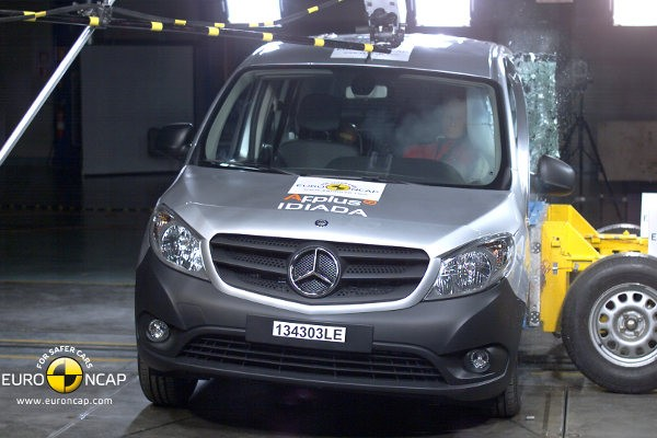 Testy zderzeniowe Euro NCAP: Mercedes Citan - video w mojeauto.tv