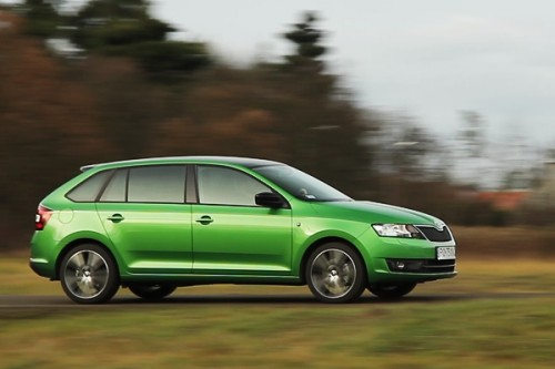 Skoda Rapid Spaceback: video-test