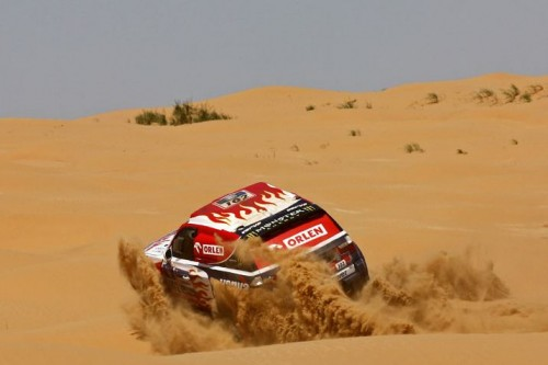 Hołowczyc nadal na czele Silk Way Rally